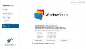 Window Blinds mac key