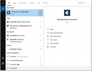 Wondershare Recoverit registered Key
