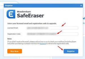 Wondershare Safe Eraser activation key